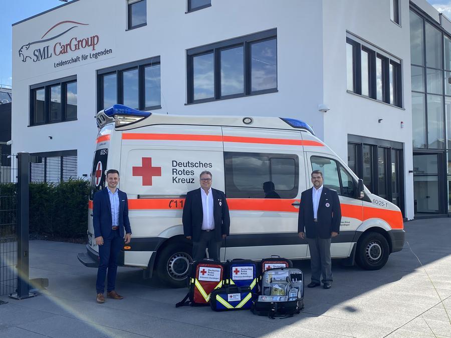 Spende DRK Deutsches Rotes Kreuz Sanitätsausrüstung Eberdingen
