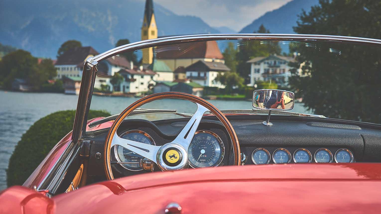 Seehotel Tegernsee Überfahrt Althoff Concours Ferrari